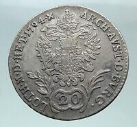 1794 B AUSTRIA Emperor Franz II Hapsburg Genuine Silver 20 Kreuzer Coin i81472