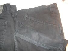 $68 LEVI STRAUSS 514 BLACK jeans 36/34 STRAIGHT DESTROYED LEG OPENINGS