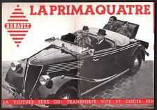 Catalogue. Automobile. Renault Primaquatre. Vers 1936