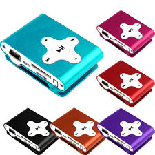 Fashoin 6 Colors Support Micro SD TF Mini Clip Metal USB MP3 Music Media Player