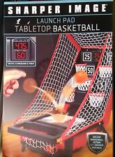 NIB Sharper Image Launch Pad Tabletop Arcade Basketball Shooting Game