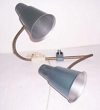 Zweiarmige Schreibtischlampe Werkstattlampe Leuchte loft vintage deko fabrik