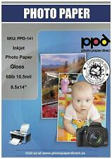 "PPD Inkjet Glossy Photo Paper Legal 8.5 x 14"" 68lbs 255gsm x 50  (PPD141-50)"