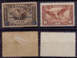 Kanada Luftpost 170 * Falzrest, 196 ohne Gummi #e209
