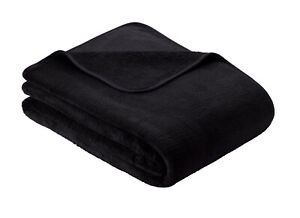 Anthracite Ibena S.OIiver Plain Wellsoft Cosy Soft Throw Blanket 150cm x 200cm
