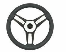 Gussi Model 13 Black/White Steering Wheel for EZGO & STAR Golf Carts