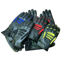 Leather Full Finger Racing Riding Hunting Motorbike I Touch Screen Gloves 9014