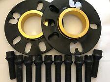 2 X 10mm BIMECC BLACK HUB SPACERS + 10 X M14X1.5 BLACK BOLTS FIT MERCEDES 66.6