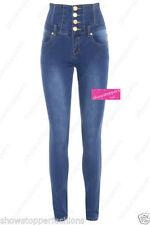 Jeans da donna alte Blu Taglia 46