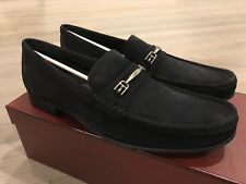 700$ Bally Navy Lopin Suede Loafers Size US 12 Made in Switzerland