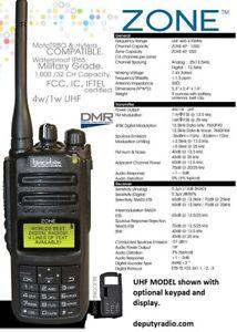 BlackBox ZONE Analog/DMR UHF Professional Portable Radio 1000 Channels
