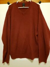 MEMBER'S MARK 100% Cashmere V Neck Pullover Sweater Size XL Mens Maroon Red