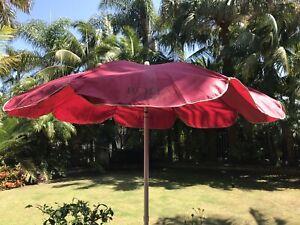 "Vintage Bolla Brut Winery Rare Canvas Umbrella Beach Patio Logo Umbrella. 84"""