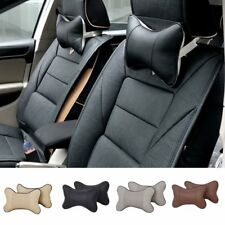 1pc Car Auto Seat Head NeckRest Leather Support Cushion Pad HeadRest Bone Pillow