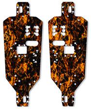HPI MT2 Chassis Plate Protector Kit - Dark Orange Flames - HPI Racing
