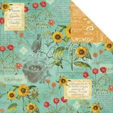 Graphic45 2 sheets, Time to Flourish Collection, AUGUST