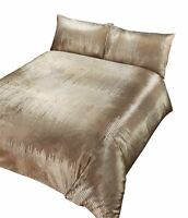 PRINTED SEQUIN-EFFECT VELVET GOLD DOUBLE DUVET COVER