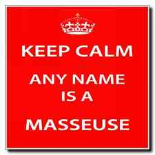 Masseuse Personalised Keep Calm Coaster