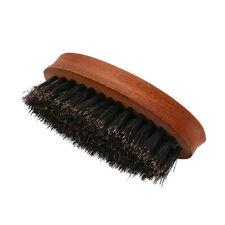 Wooden Soft Boar Bristle Wave Hair Beard Brush Beech with Handle  #NE8X