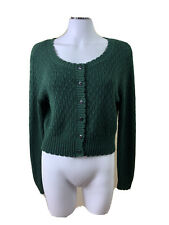 Princess Highway Size 14 Bottle Green Button Up L/S Cardigan Acrylic & Cotton