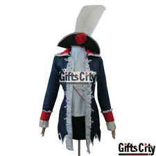 APH Axis Powers Hetalia Prussia Woman Version Cosplay Costume /& Hat mp000961
