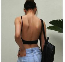 Sexy Backless Strapless Bra Push Up For Women Thin Low Back Underwear Lace Mesh