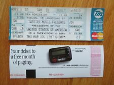 Unused United States Of America March 13, 1997 Avalon Mass Concert Ticket
