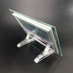 2 Paar Visitenkarten Halter Acrylständer Fotorahmen Rahmen Display Support Dekor
