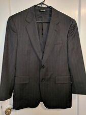 JOS A BANK SIGNATURE COLLECTION Dark Gray Pinstripe Wool Suit Coat Blazer  40 S