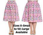 Hell Bunny Maxine Skirt Flamingo Sunset 50s Plus Pinup XS S M L XL 2XL 3XL 4XL