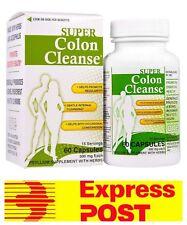 Super Colon Cleanse Digestive Detox Health Plus Inc 500 mg 60 Capsules