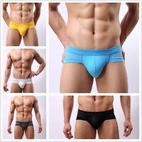 Men's Modal Cotton Briefs Underwear Breathable Low Waist Trunks Underpants AU