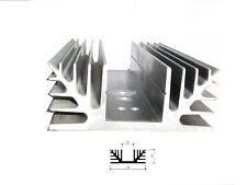 Dissipatore in alluminio per elettronica  88x35x150 mm preforato