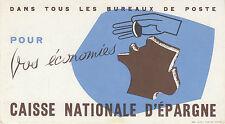 Buvard Vintage  Caisse Nationale d'Epargne