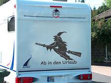 WoMo Hexe toller Aufkleber für das Wohnmobil Wohnwagen mit Schriftzug NEU toll