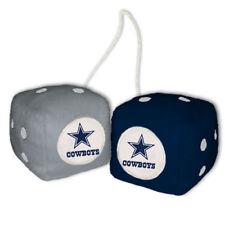 "Dallas Cowboys High Quality PLUSH 3"" Fuzzy Dice Team Logo Colors NWT"