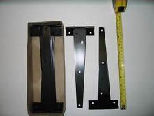 "250mm 10"" Inch Medium Tee Hinge Black Gate Shed  x5 prs"