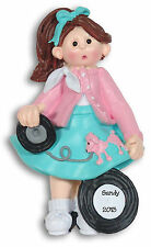 50's GIGGLE GANG GIRL Personalized Ornament Hand Painted RESIN by Deb & Co