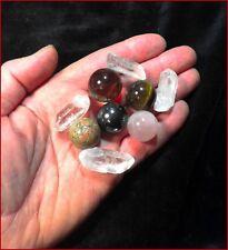 5 Spheres Hematite, Unakite, Blue Sodalite Quartz Crystal Ball 4 Natural Points
