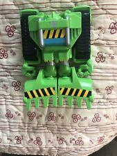 "Hasbro Transformers Rescue Bots 12"" BOULDER Construction-Bot Figure Green Toy"