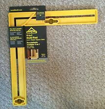 Level Best  4-in-1 Multi-Tool Square with Level  Yellow  12-Inch Lot of 2
