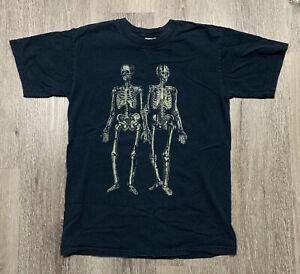 Vintage 2006 Dir En Grey Concert Band Tee Shirt Skeletons Faded Small Y2K 00's