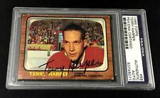 TERRY HARPER SIGNED 1966 TOPPS MONTREAL CANADIENS CARD #68 PSA/DNA 83749071