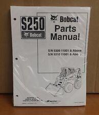 Bobcat S250 Parts Manual Book Skid Steer Loader 6904244 New