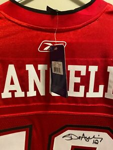 SANDRO DEANGELIS AUTOGRAPH CALGARY STAMPEDERS  JERSEY SIGNED AFTER 2008 GREY CUP