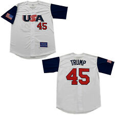 Large Donald Trump USA America Great Again President Baseball Jersey Men