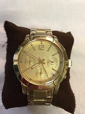 Jennifer Lopez JLO Yellow Gold Watch Chronograph Dial Stainless Steel Quartz