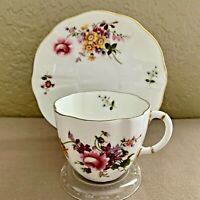 Royal Crown Derby Bone China Teacup and Saucer Derby Posies 1979