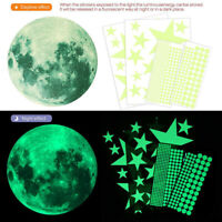 Glow In The Dark Luminous Stars Moon Planet Space Wall Stickers Decal Child Home