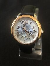 bulova mens watch 38mm Case,day/date/mouth ,beautiful Silver Design Face Gold